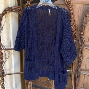 Navy Free People Cardigan